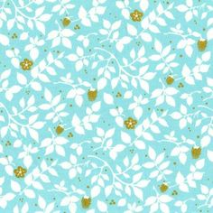 Brambleberry in Aqua | Bobbie Lou's Fabric Factory