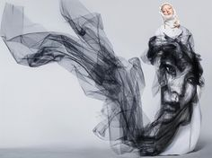 Benjamin Shine, designer britânico, cria impressionantes obras realistas usando tecidos de tule
