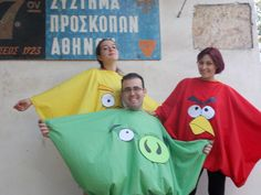 Angry Birds party theme costumes by 17 Scouts, via Flickr