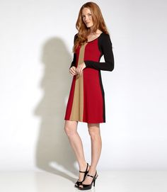 Love this color panel dress - especially the vertical design...