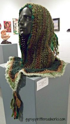 Gypsy Spirit Mother Earth Crocheted and Embellished Hood