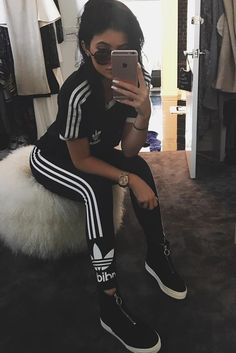 Kylie Jenner,Adidas,Workout,Sporty Style,Apple, iPhone,Instagram,Pinterest ,Tumblr...