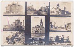 RP: 8-view postcard ,VIRGINIA , Minnesota , 00-10s