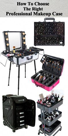 2-IN-1 Black by Glam Looks Nylon PRO MakeUp Artist Trolley Case