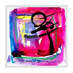 Enso Abstract Painting Pink Zen Watercolor by Kathy Morton Stanion.  kathymortonstanion.com #kathymortonstanion #abstractart #homedecor