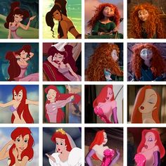 Why does every red haired Disney character wear green or pink?