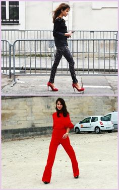 Fierce! Am absoluting lusting after these red shoes. Photo from London Chatter's coverage of Paris Fashion Week.