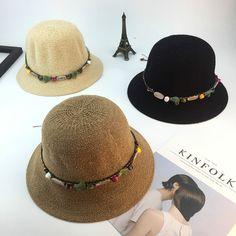 Aliexpress.com  Comprar Moda Cap mujeres plegable sombreros de verano para  las mujeres señoras cúpula playa vacaciones sol sombrero de paja Color  Piedra del ... 50920b68907