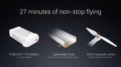 xiaomi mi drone flight time