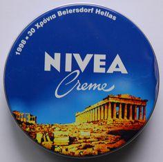 Nivea Dose 30 Jahre Beierdorf Hellas / Griechenland 1998 Old Greek, Dose, Greece, Collections, Cosmetics, Vintage, 30 Years, Branding, Advertising