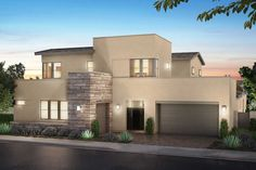 New Home -Ready for Quick Move IN! (Plan 3) at Nova Ridge in Las Vegas, NV, now available for showing by Joe iuliucci 702-720-2660 New Homes Las Vegas, Las Vegas Real Estate, Modern Stair Railing, Modern Stairs, Nevada, Stucco And Stone Exterior, Pardee Homes, Desert Homes, Modern Architecture