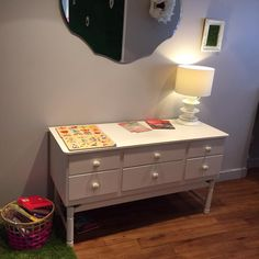 A vintage, upcycled drawer unit from Emmaus Colchester, available at The Daisy Cup Cafe and Floristry.