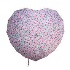 Vintage Floral May Heart Shaped Umbrella