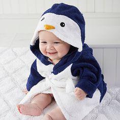 Baby Aspen Wash & Waddle Penguin Hooded Spa Bathrobe