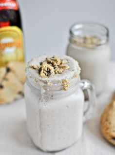 A childhood classic gets a thoroughly grown-up makeover... Chocolate Chip Cookie Kahlua Milkshakes!