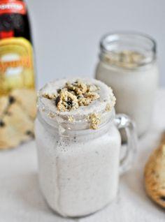 Chocolate Chip Cookie Kahlua Milkshakes | How Sweet It Is