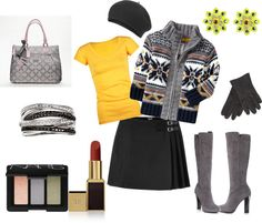 """Chilly Day Out"" by peppermintmochamama on Polyvore"