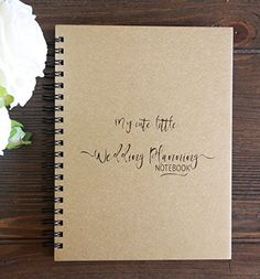 "My Cute Little Wedding Planning Notebook Gold Metallic Paperboard Journal - 7"" x…"
