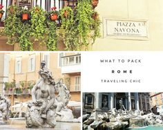 What to pack and what to do for your trip to Rome, Italy from the Trevi Fountain, to the Spanish Steps, to the Vatican you will be traveling in style with this packing list.