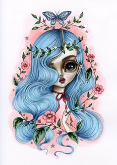 """""""Cassandra"""" by Lauren Saxton. 2016 Swoon Gallery solo show."""