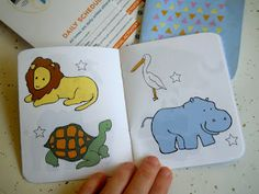 Zoo passport! Put a sticker on the animals as we find them and talk about sounds, colors, names, and/or writing activities depending on the age!