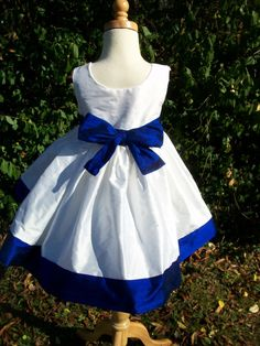 Silk Flower Girl Dresses by mapletree2000 on Etsy, $70.00