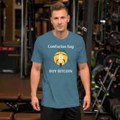 Philosophy of Life Bitcoin T-Shirt For Men (Dark) - Heather Deep Teal / 2XL