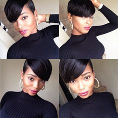 Shop Best Human Hair Wigs for Black Women,Lace Wigs for African American with Factory Cheap Price, DHL Worldwide Shipping,Big Promosion and Store Coupons Available Short Sassy Hair, Short Hair Cuts, Short Hair Styles, Natural Hair Styles, Pixie Styles, Pixie Cuts, Straight Hair, Love Hair, Great Hair