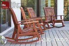 Mecedoras Margarita   -muebles de exterior / outdoor furniture  -Diseño Rojo Óxido  www.rojooxido.mx Rocking Chair, House, Furniture, Home Decor, Home, Outside Furniture, Terrace, Red, Blue Prints