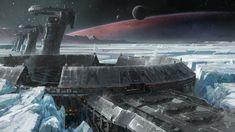 Ice Planet Structures - Destiny #DestinyTheGame gaming games images pictures screenshots GameScapes VistaLore daily pics beauty imagination Fantasy concept digital art sci-fi science fiction