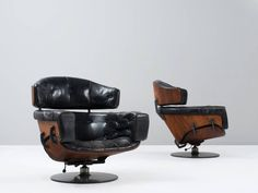 Set of Lounge Chairs by Martin Grierson for Arflex | From a unique collection of antique and modern lounge chairs at https://www.1stdibs.com/furniture/seating/lounge-chairs/