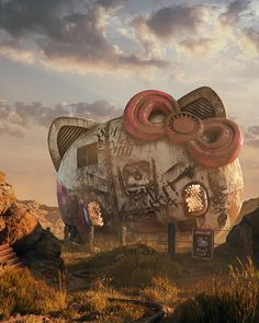 filip hodas' pop culture dystopia depicts littered landscapes of obliterated icons
