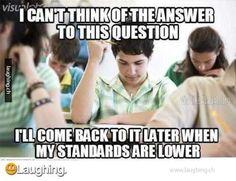 Test taking logic