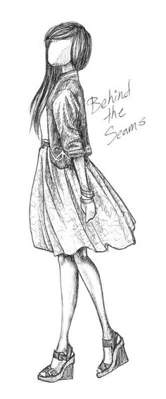 how to draw clothcing seams