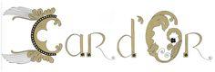 Enluminure « Car d'Or » réalisée à la main à partir d'élément vus dans la Collégiale Sainte-Waudru à Mons. Manon Scoubeau