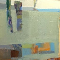 """""""Shapes of Color"""", 30""""x30"""". Contemporary landscape by Sandy Ostrau."""