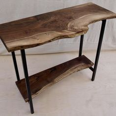 Live Edge Walnut Console Table by Michael Heuser