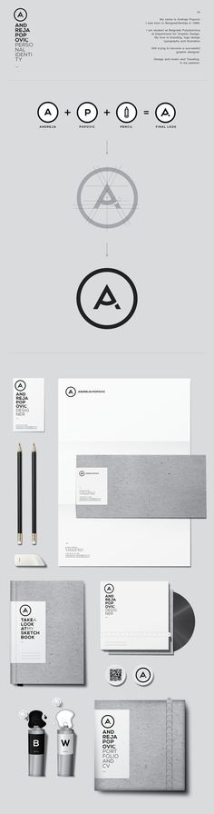 Cool Brand Identity Design. ANDREJA POPOVIĆ. #branding #brandidentity