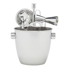 Bar Tool and Ice Bucket Set - Crate & Barrel Homestore