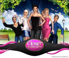 Closer Star City est le 1er jeu social Facebook qui fera de vous un vrai people et vous permettra de faire aussi la couverture de Closer ! Evoluez dans un univers glamour en participant aux évènements les plus hypes et rencontrez vos peoples préférés pour entrer dans le cercle très fermé des STARS !    https://apps.facebook.com/closerstarcity/