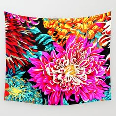 Collect your choice of gallery quality Giclée, or fine art prints custom trimmed by hand in a variety of sizes with a white border for framing. Yoga For Kids, Chrysanthemum, Wall Tapestry, Vivid Colors, Hand Sewing, Boho Fashion, Pop Art, Duvet Covers, Fine Art Prints