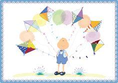 "Lámina infantil decorativa. ""Globos y Cometas"" By Lol Malone Child Designs"