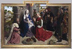 Hugo van der Goes, Monforte Altarpiece  c. 1470, Oil on wood, 150 x 247 cm, Staatliche Museen, Berlin