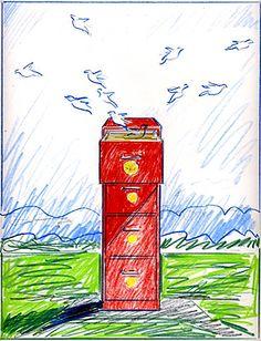 Pencil sketch proposal for illustration.