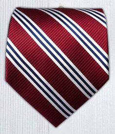 $15 Bar Stripes - Burgundy || Ties - Wear Your Good Tie. Every Day - Bar Stripes - Burgundy Ties