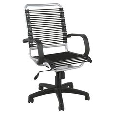 Black Bungee Office Chair Bungee chair Container store and Desks