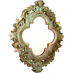 Spanish Colonial Style Mirror | From a unique collection of antique and modern wall mirrors at http://www.1stdibs.com/furniture/mirrors/wall-mirrors/