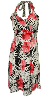 Napali Guava Hawaiian Dress, Hawaiian dress, Halter Hawaiian dress, sundress, beach Hawaiian dress, floral dress