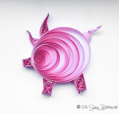 Quilled Pink Pig  #quilling #pig #pink #oink