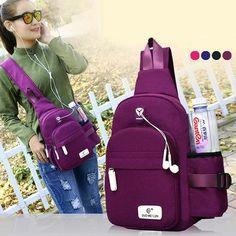 Women Nylon Daily Crossbody Bag Waterproof Durable Chest Bag Shoulder Bag